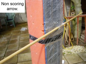 Non scoring arrow.
