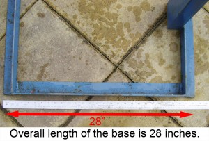 Overall length of the base is 28 inches.