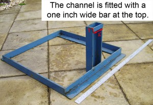The channel is fitted with a one inch wide bar at the top.